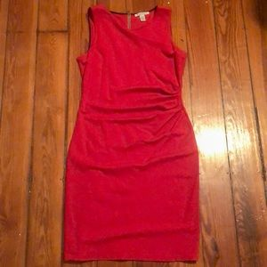 Kenneth Cole Red Pencil Dress Women's Size 8